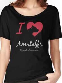 I love Amstaff Women's Relaxed Fit T-Shirt