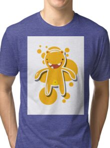 Card with cute colorful monster Tri-blend T-Shirt