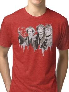 The Rolling Stones Band Tri-blend T-Shirt