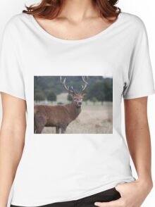 Red Deer during Rutting Season  Women's Relaxed Fit T-Shirt