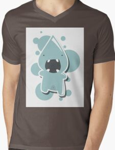 Card with cute colorful monster Mens V-Neck T-Shirt