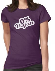 Vegan 0% Womens Fitted T-Shirt