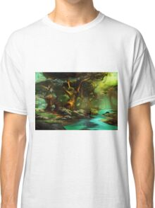 Enchanted forest, morning light Classic T-Shirt