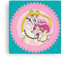 Sailor Moon & Sailor ChibiMoon Canvas Print