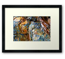 Cave Copper Grey Stone Geology 2 Framed Print