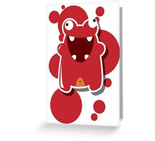 Card with cute colorful monster Greeting Card