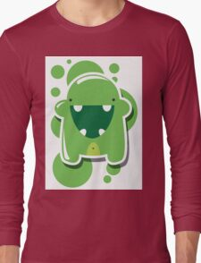 Card with cute colorful monster Long Sleeve T-Shirt