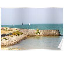 The Penitentiary Beach - Ile de Ré, France. Poster
