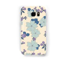 vintage,retro,floral pattern,shabby chic,pattern,country chic,roses,flowers,turqouise background,purple,white,modern,trendy,girly,mint, Samsung Galaxy Case/Skin