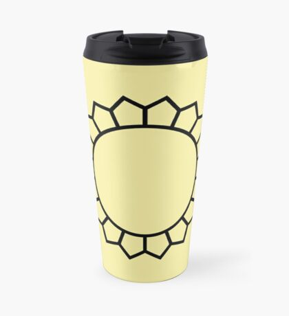 Circle Pentagons Buttercream Travel Mug