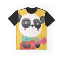 Animal Band - Panda Guitarist Graphic T-Shirt