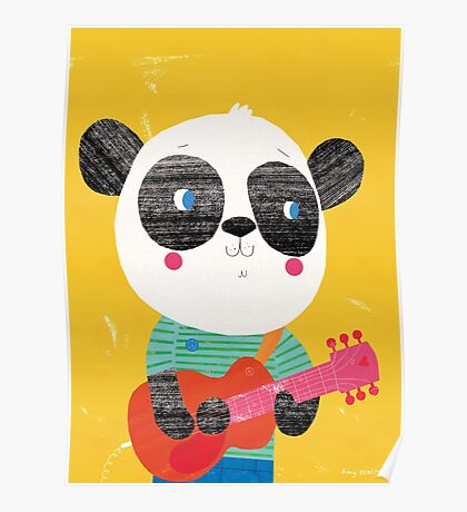 Animal Band - Panda Guitarist Poster