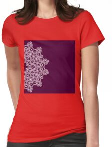 Abstract lace arabesque mandala ornament Womens Fitted T-Shirt