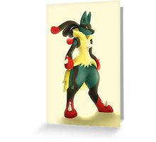 Mega lucario Greeting Card