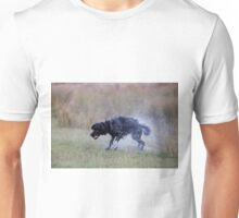 A very wet dog after collecting a tennis ball from a pond Unisex T-Shirt
