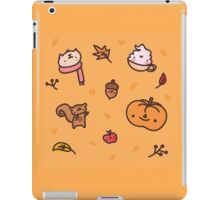 Autumn Orange Kawaii Doodle - Seasons are Changing iPad Case/Skin