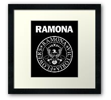 Ramona - White Framed Print