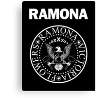 Ramona - White Canvas Print