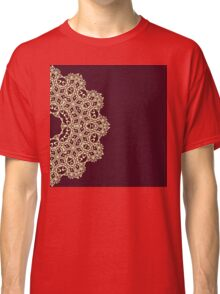 Abstract lace ornament design Classic T-Shirt
