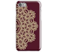 Abstract lace ornament design iPhone Case/Skin