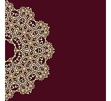 Abstract lace ornament design Photographic Print