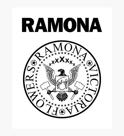 Ramona - Black Photographic Print