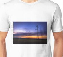 Power Lines During Twilight Unisex T-Shirt