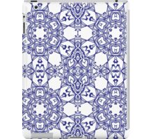 Abstract geometric pattern with blue arabesque ornament iPad Case/Skin