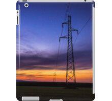 Power Lines During Twilight iPad Case/Skin