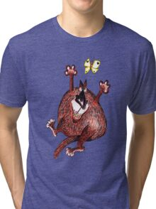 ObesiCat: Would've caught 'm if it wasn't for my diet... Tri-blend T-Shirt