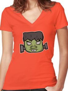 Frankenstein's Monster T-Shirt Women's Fitted V-Neck T-Shirt