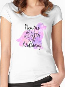 Extraordinary Newfie Watercolor Women's Fitted Scoop T-Shirt