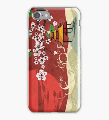 Traditional Japanese landscape iPhone Case/Skin