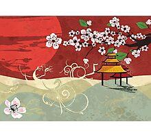 Traditional Japanese landscape Photographic Print