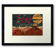 Traditional Japanese landscape Framed Print