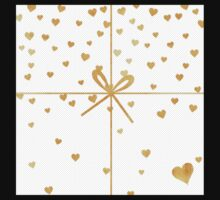 christmas,gold,ribbon,hearts,modern,trendy,tiny dots, white,cute One Piece - Long Sleeve