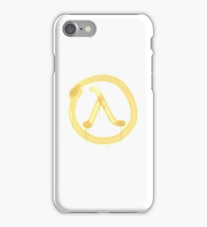 Lambda Graffiti - Half Life 2 - High Fidelity iPhone Case/Skin