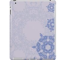 abstract design with blue geometric arabesque snowflakes iPad Case/Skin