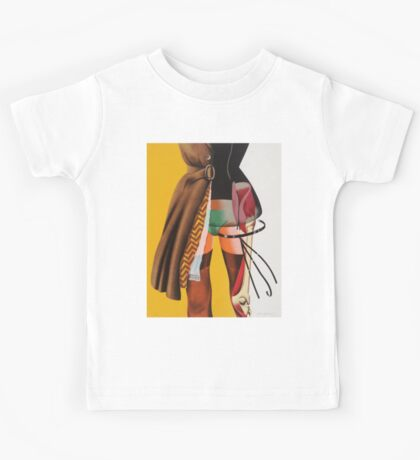 collage CLOTHES NAKED Kids Tee