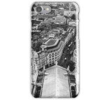 Black and White London Aerial View iPhone Case/Skin