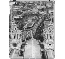 Black and White London Aerial View iPad Case/Skin