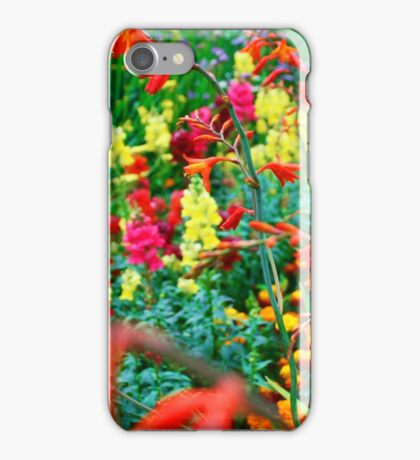 Flowers in an English Country Garden iPhone Case/Skin