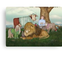 The Hand Knitted Peaceable Kingdom  Canvas Print