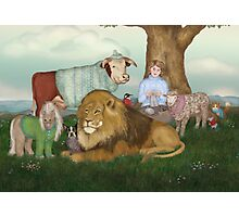 The Hand Knitted Peaceable Kingdom  Photographic Print