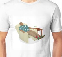 Black man wearing hawiian shirt Unisex T-Shirt