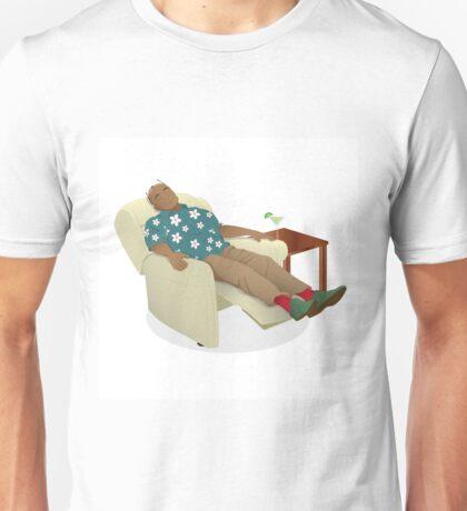Black man wearing hawiian shirt Unisex T-Shirt