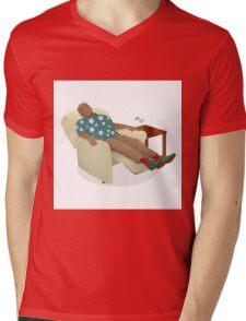Black man wearing hawiian shirt Mens V-Neck T-Shirt