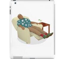 Black man wearing hawiian shirt iPad Case/Skin