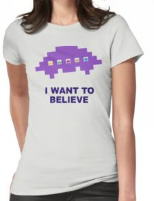 I Want To Believe Retro Aliens Womens Fitted T-Shirt