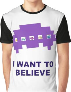 I Want To Believe Retro Aliens Graphic T-Shirt